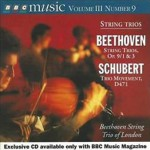 Manka Bros., Khan Manka, Emily Sachs, Emily's Music Dump, Ludwig Van Beethoven, Franz Schubert, STring Trios Opus 9, BBC Music Magazine, Beethoven String Trio of London, Tim Andrew, Malcolm Bruno, John Hadden, Ruth Waterman
