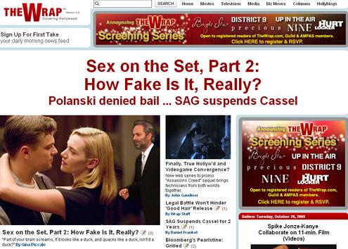 Sex on the newscast set