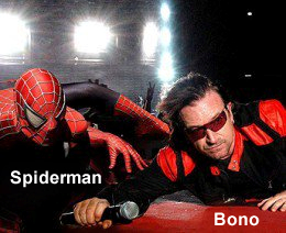 Bono, U2, the Edge, Julie Taymor, Spiderman: turn off the dark, Seamus, Manka Bros., Khan Manka, Ben Silverman, Ari Emanuel
