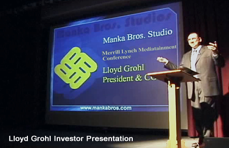 Lloyd Grohl Presentation to Merrill Lynch